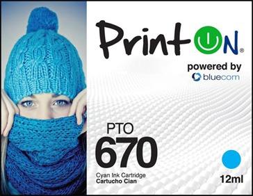 Cartucho Hp 670 Azul Marca Printon