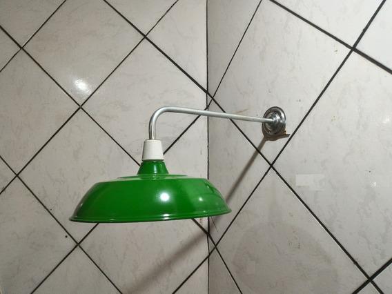 Luminaria Industrial Aluminio Verde Agata Soquete C/ Haste