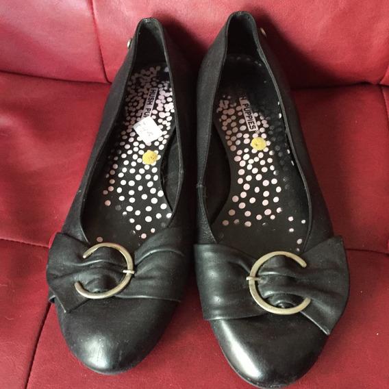 Zapatos Chatitas De Cuero Negras 36 Marca Hush Puppies