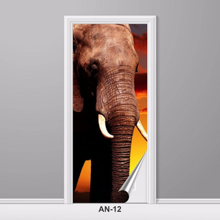 Adesivo Para Porta Animais Elefante África Safari An-12