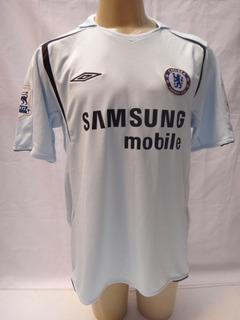 Camisa De Futebol Do Chelsea F.c. 2005/06 #15 Drogba Away Zz