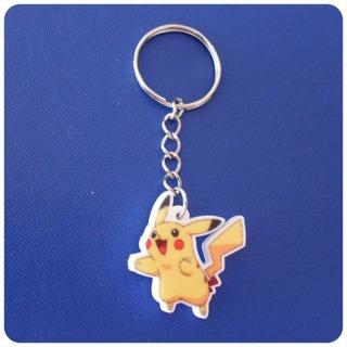 Llavero De Pokemon - Pikachu Anime Unico! Acrílico