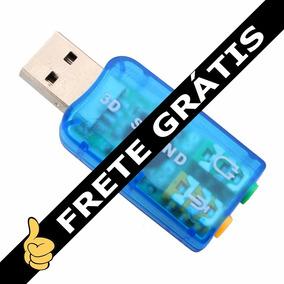 Placa De Audio Externa Usb Som 5.1 Pc Notebook Frete Gratis