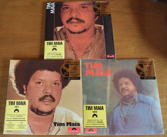 3 Lps Tim Maia - 1970, 1971 E 1973   Novos E Lacrados