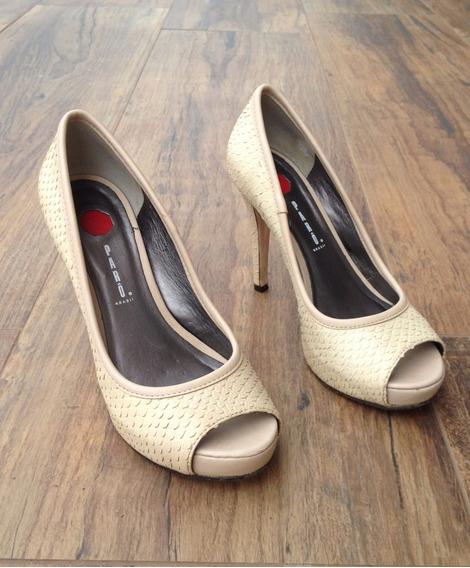 Sapato Salto Alto Peep Toe Parô (usado Uma Vez) Festas Noite