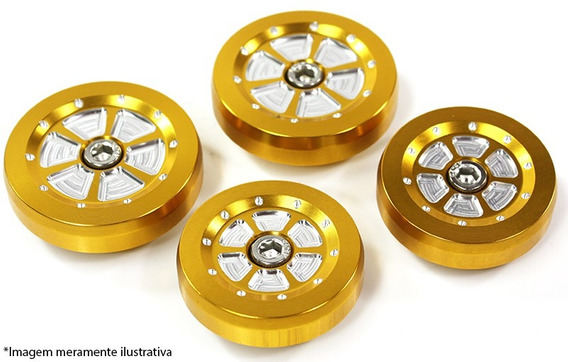 Tampa Decorativa Quadro (par) Kaw-ninj250r Dourada Moto X