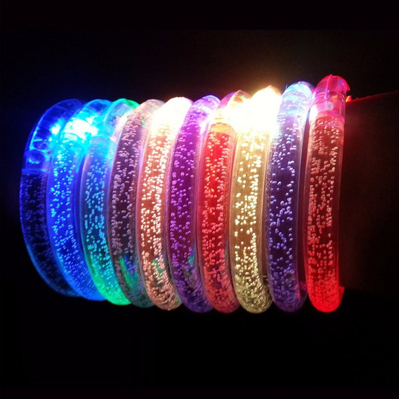 Pulsera Luminosa Led (20 Unds) Incluye Pilas