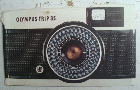 Folheto Promocional Da Camerra Olympus Trip 35