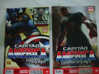 Hq Capitão América E Gavião Arqueiro Nº 1 E 3 Panini-marvel