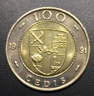 Gha007 Moneda Ghana 100 Cedis 1991 Unc-bu Ayff