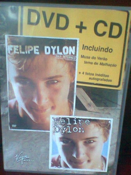 Cd + Dvd Felipe Dylon Nas Internas Original Frete Grátis