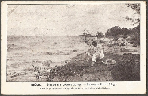 Rio Grande Do Sul Le Mer À Porto Alegre Cartão Postal Antigo