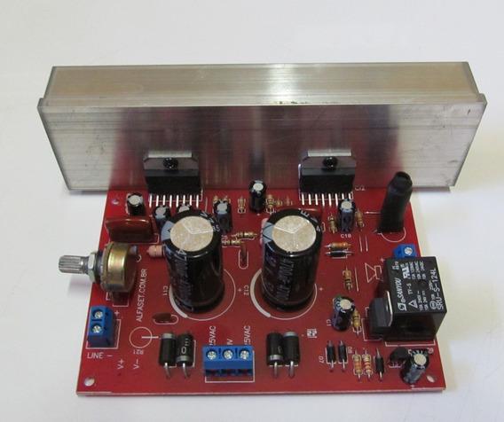 Kit 2 Placas Montada Amplificador 200w Rms Tda7294
