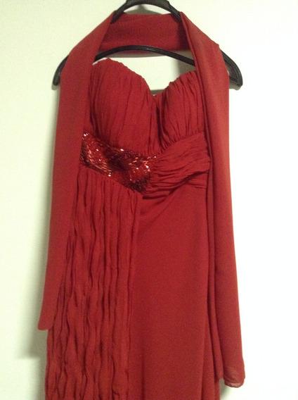 Vestido Longo Vermelho - De Formatura - Sônia Baek