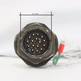 Amphenol Socapex Série 451, Conector Circular C/ 16 Pinos