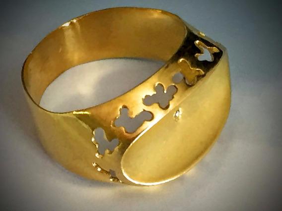 Anel Em Ouro 18 K-3gr.-aro 11-feminino.