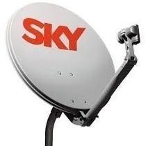 Kit Com 2 Antenas Sky 60 Cm + Cabo+fixação