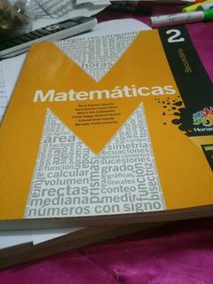 Matematicas Sec. 2 Horizontes Santillana Completamente Nuevo