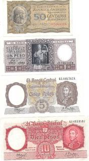 Serie De 8 Billetes Pesos Moneda Nacional Excelentes