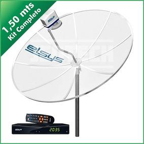 Kit Antena E Receptor De Sinal Mod.black 2.0 Prata Elsys