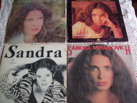Lote De 4 Discos De Vinilo De Sandra Mihanovich