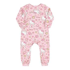 Macacão Infantil Bebe Menina Hello Kitty Sem Capuz0850.87091
