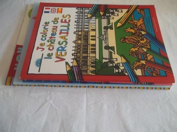 * Lote 5 Livros Je Colorie Para Colorir Frances Paris J