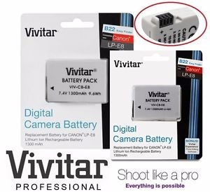 Batería Vivitar Para Canon Rebel T5i T4i T3i T2i Lp-e8 Lp