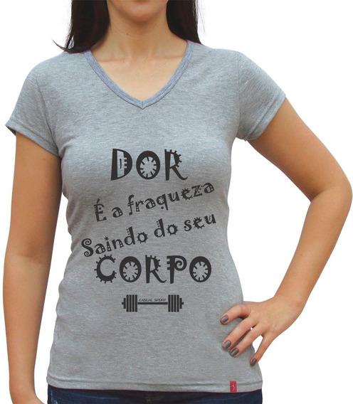 Camiseta Baby Look Feminina Fitness Casual + Frete Grátis