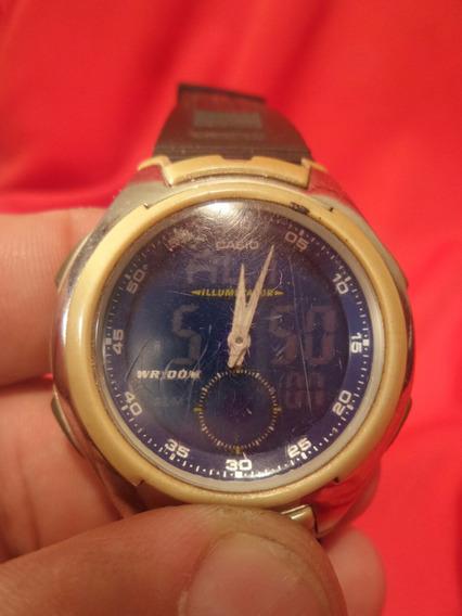 Relógio Casio Aq-160 - Máquina Do Tempo