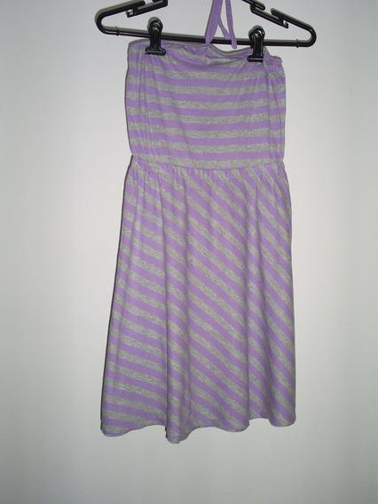 Vestido Menina Lilás 8 Anos Gap