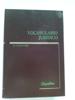 * Vocabulario Jurídico E Couture Empastado 590 Páginas
