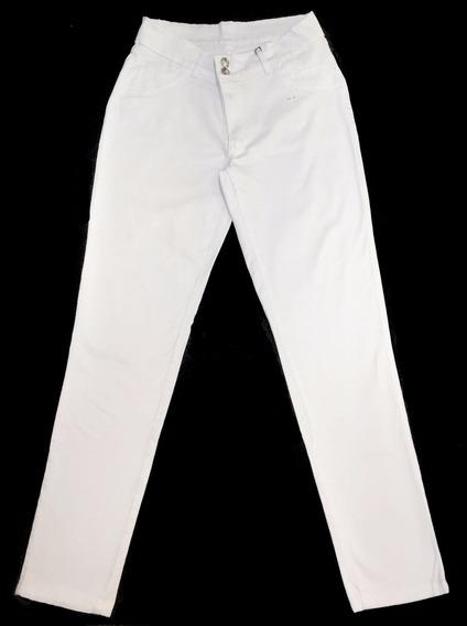 Kit 2 Calças Feminina Branca Plus Size Pequeno Defeito 7011