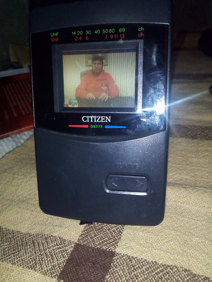 Mini Tv Lcd Ds777 Citizen Colorida- Edição De Colecionador