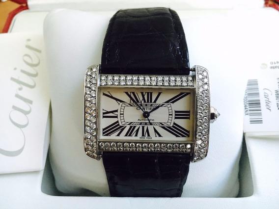 Cartier Tank Divan Automatic 3.5 Quilates Diamantes Full Set