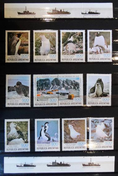 Estampillas Fauna Antártica. 150 Años Presencia Islas. 37526