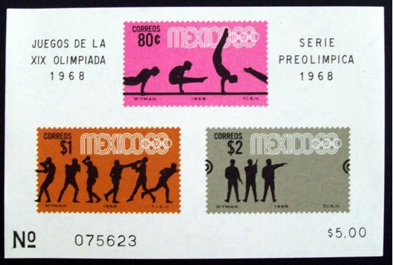 Deporte, México - Bloque Sc 995a Preolímpica 68 Mint L4365