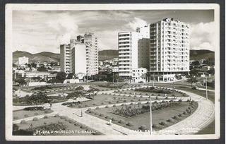 Postal Circulado 1957 Belo Horizonte Praça Raul Soares.