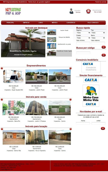 Site Imobiliaria Administrável - Script Php