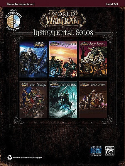 World Of Warcraft Instrumental Solos Piano - Partitura + Cd