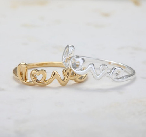 Anillo Amor Love Novio Midi Ring Mujer Regalo Elegante Look