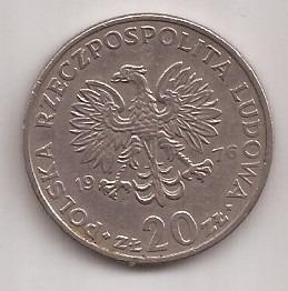 Polonia Moneda De 20 Zlotych Año 1976