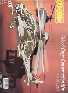 Helicoptero Apache Mdf 3mm