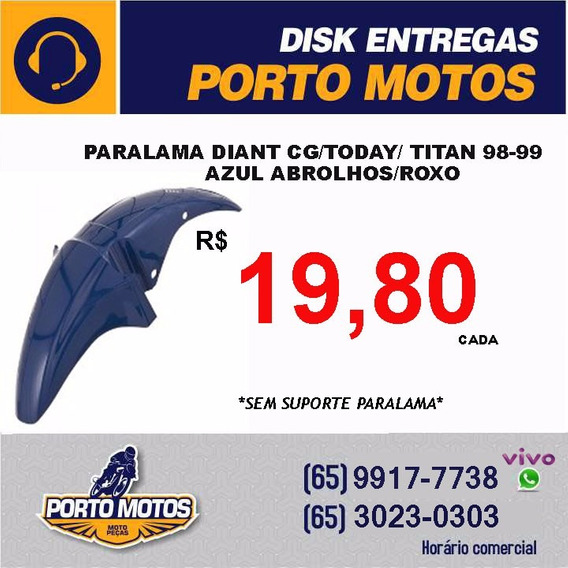 Paralama Diant Cg/today/ Titan 98-99 Azul Abrolhos/roxo