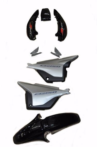 Kit Completo Carenagem Titan150 Sport Preto 2005 C/adesivada