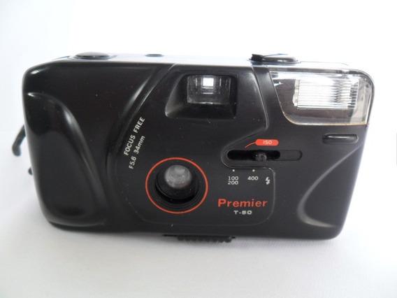 Câmera Máquina Fotográfica Antiga Premier T 50 Coleção