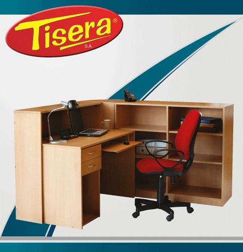 Imagen 1 de 3 de Puesto De Trabajo Recepcion L Ejecutivo  Tisera Pc Pdr-10