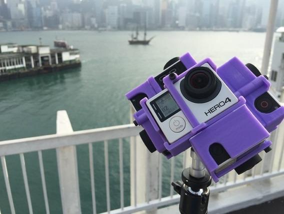 Suporte P/ Filmagem Em 360 Graus Gopro Hero 3/3+4 6 Câmeras