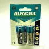 Pilha Alcalina D - Alfacell - Pacote Com 2 Unidades