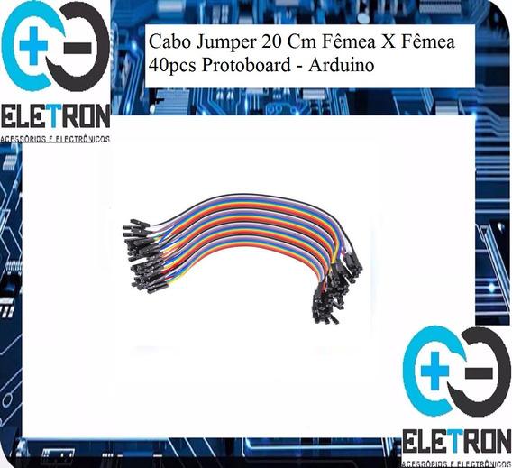 Cabo Jumper Para Arduino Fêmea/femea 20cm 40 Vias